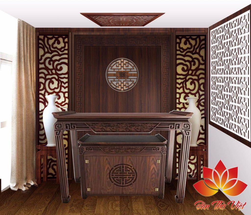 Tủ thờ nên chọn bằng gỗ gì?