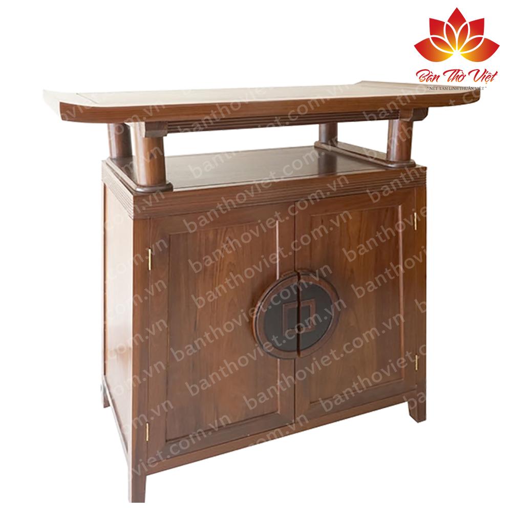 Tủ thờ làm bằng gỗ mít bền đẹp chất lượng