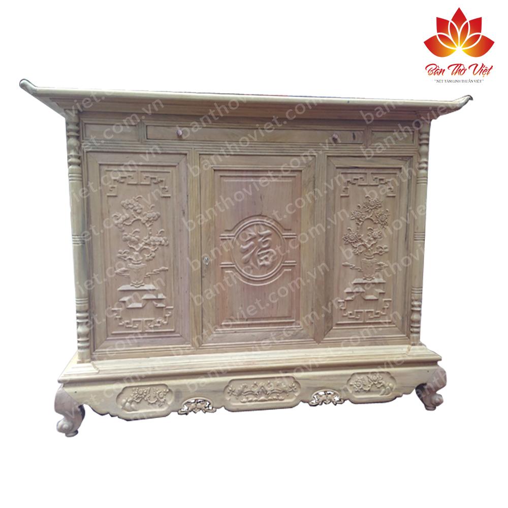 Tủ thờ gỗ quý và đặc điểm nổi bật của tủ thờ gỗ quý hiện nay