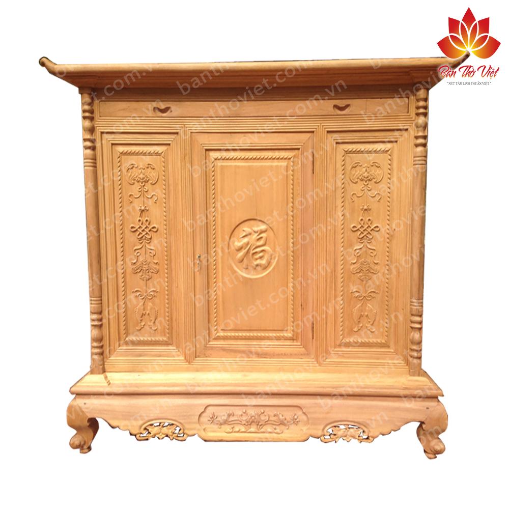 Một số mẫu tủ thờ gỗ mít với hoa văn độc đáo