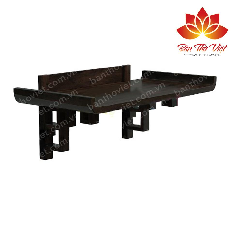 Mẫu bàn thờ treo tường hiện đại gỗ lim