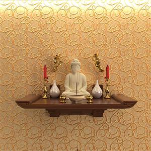 Những mẫu bàn thờ treo tường thông minh cho gia đình có không gian hẹp