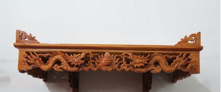 Một số mẫu bàn thờ treo chạm rồng đẹp