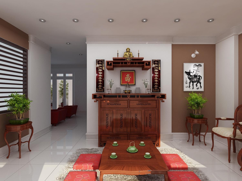 Bày trí và thiết kế tủ thờ ở phòng khách với tiêu chí sản phẩm đảm bảo chất lượng, kiểu dáng
