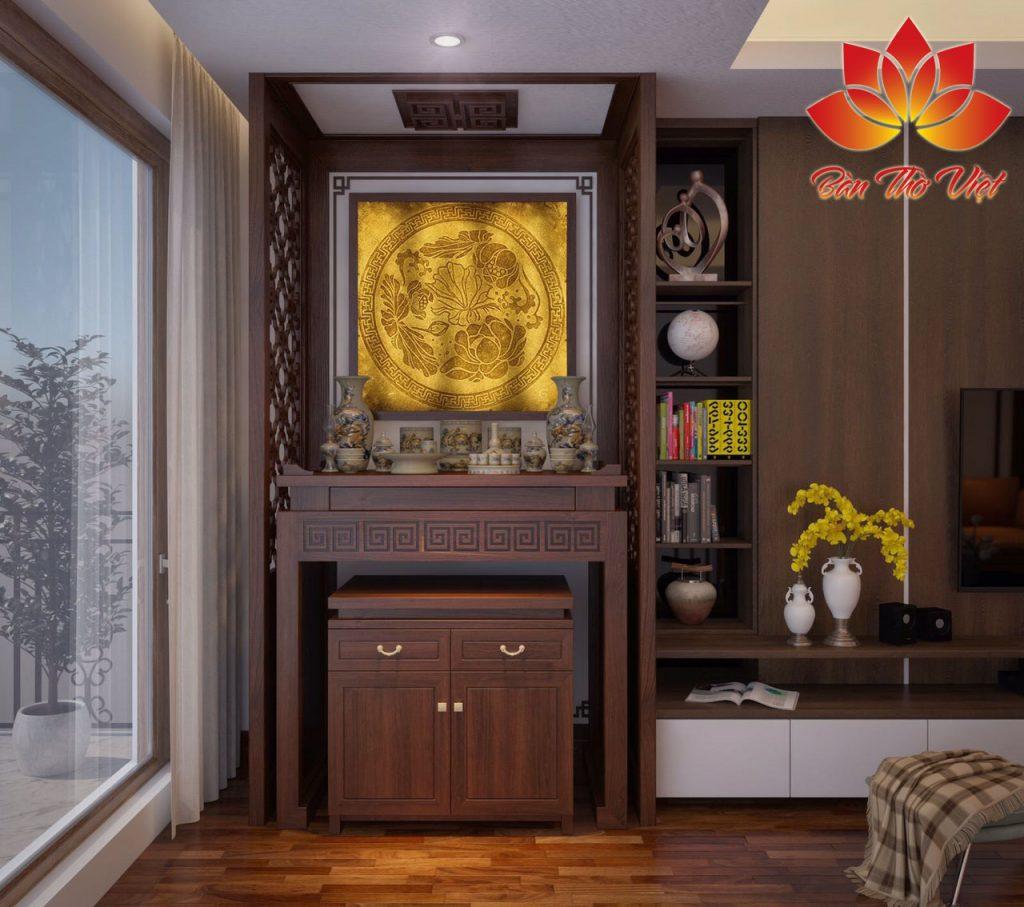 Thiết kế không gian như thế nào cho phù hợp với tủ thờ ở phòng khách