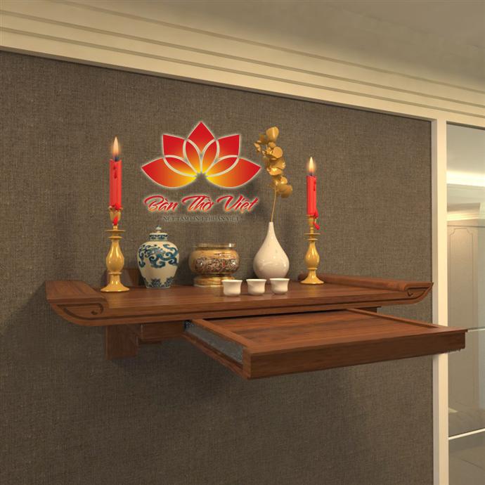 Bàn thờ treo hiện đại với ngăn kéo rất tiện lợi, được nhiều khách hàng tin tưởng tìm mua